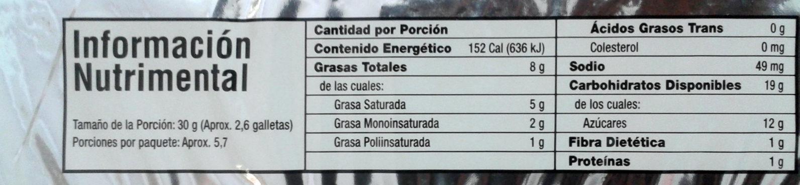 Cremax sabor a chocolate - Nutrition facts - es