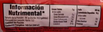 crackets - Informations nutritionnelles - es