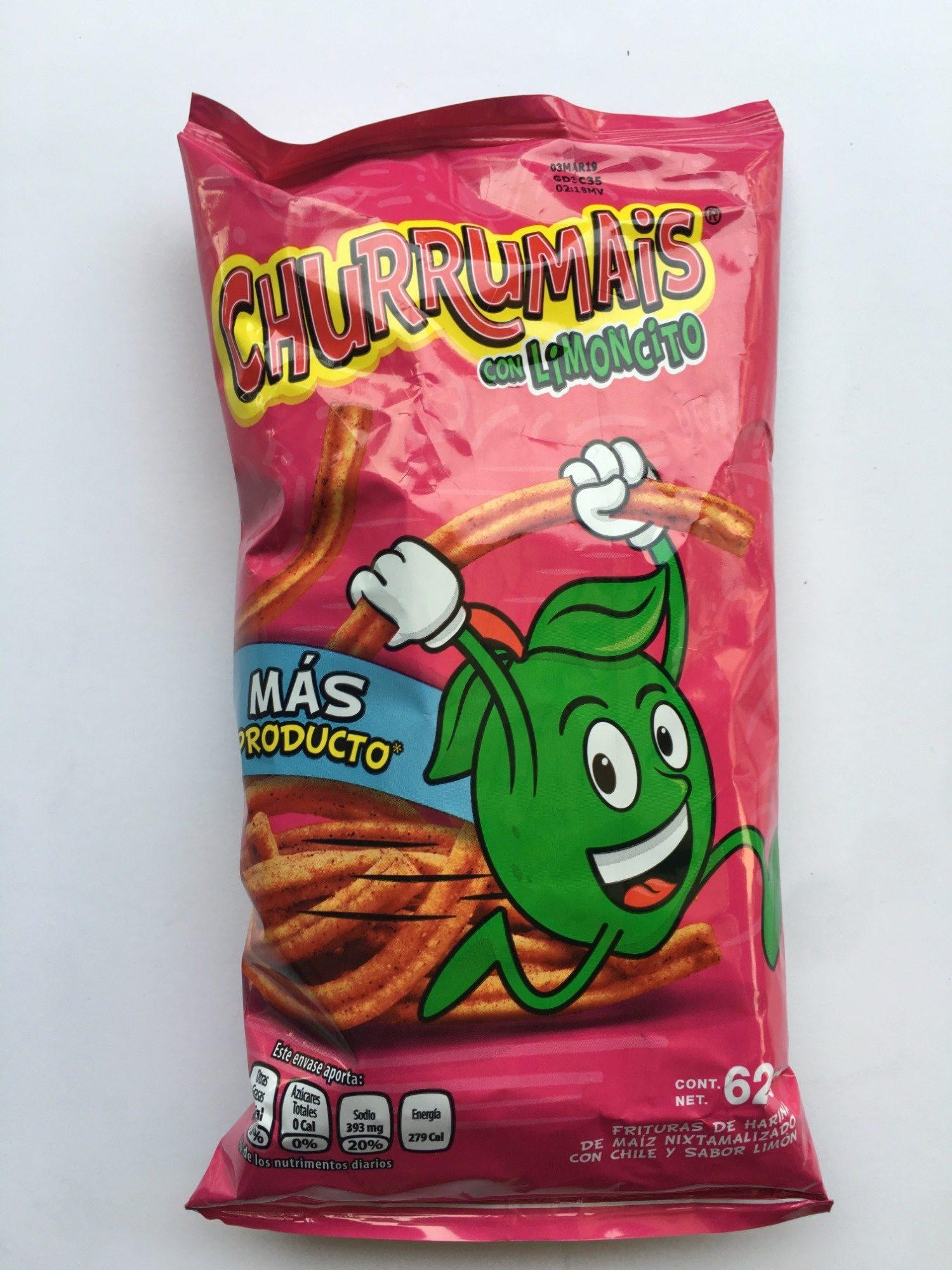 Churrumais con limoncito - Producto