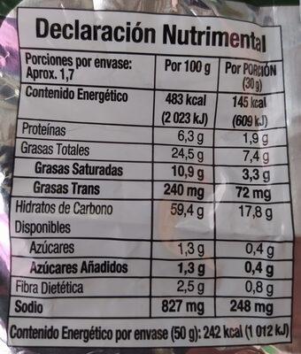 Ruffles - Información nutricional - es