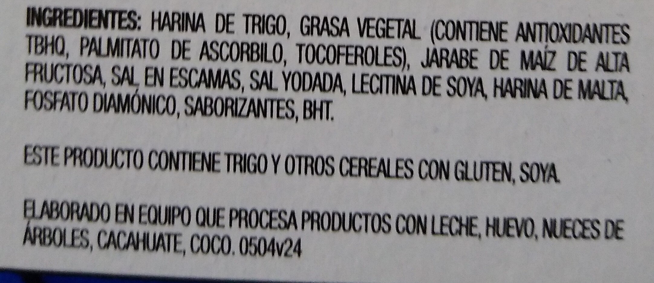 Saladitas - Ingredientes - es