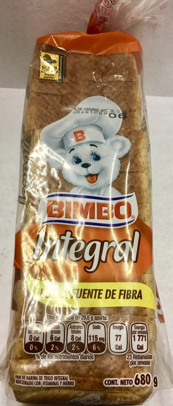 PAN INTEGRAL BIMBO - Produit - es
