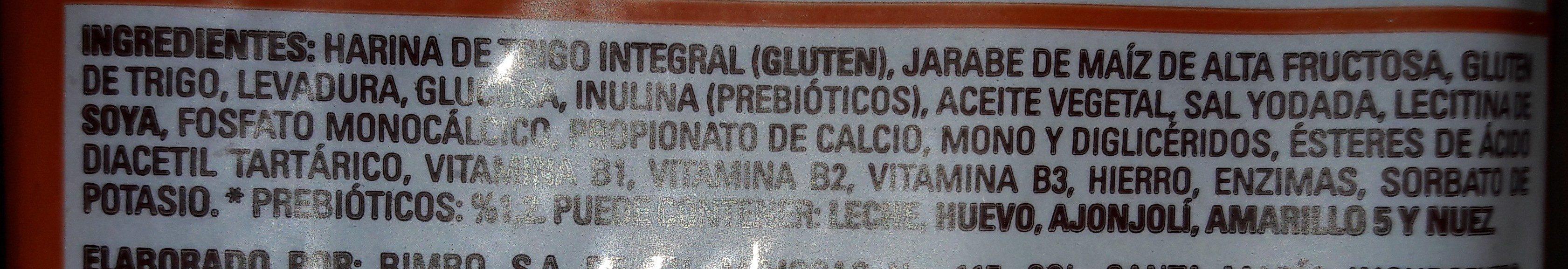PAN INTEGRAL BIMBO - Ingredients