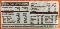 PAN INTEGRAL BIMBO - Informations nutritionnelles - es