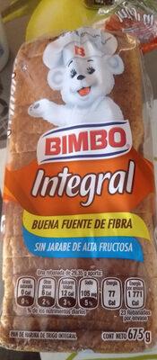 Pan Integral Bimbo Grande - Producto - es