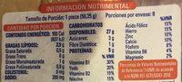 Bimbollos - Informations nutritionnelles - es