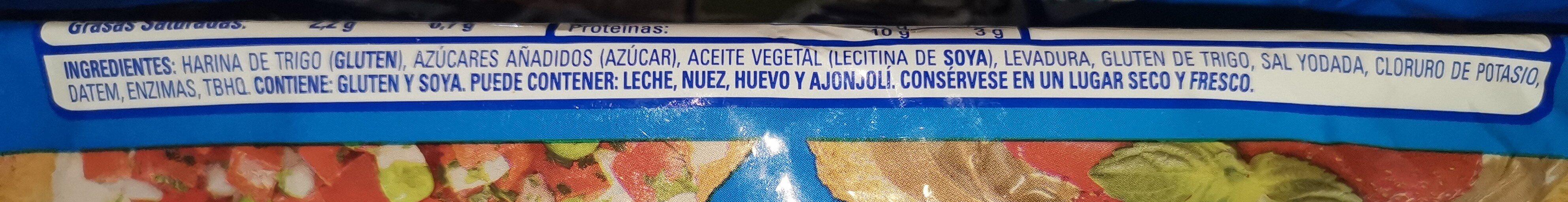 Pan Tostado Clásico - Ingrédients - es