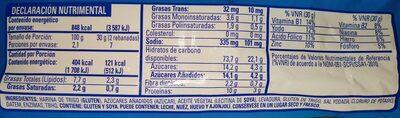 Pan Tostado Clásico - Informations nutritionnelles - es