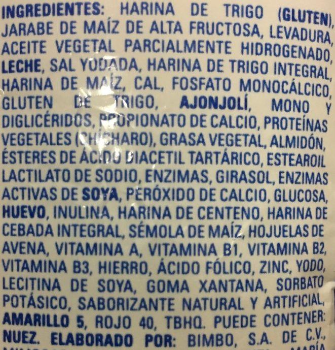 Pan Molido Clásico - Ingrédients - es