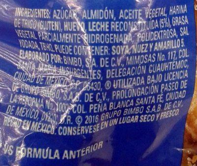 Bimbuñuelos - Ingrediënten - es