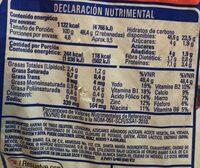 Pan Bimbo mx - Información nutricional - es