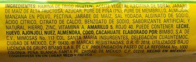 Barritas Piña Marinela - Ingrediënten - es