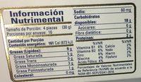 Pastisetas originales - Informations nutritionnelles - es