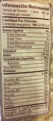 DORADITAS TÍA ROSA - Voedingswaarden - es