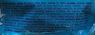 Submarinos Marinela - Ingrediënten - es