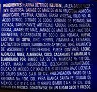 Rocko Marinela - Ingrediënten - es