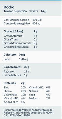 Rocko Marinela - Voedingswaarden - es