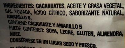 Golden Nuts Salados - Ingrediënten