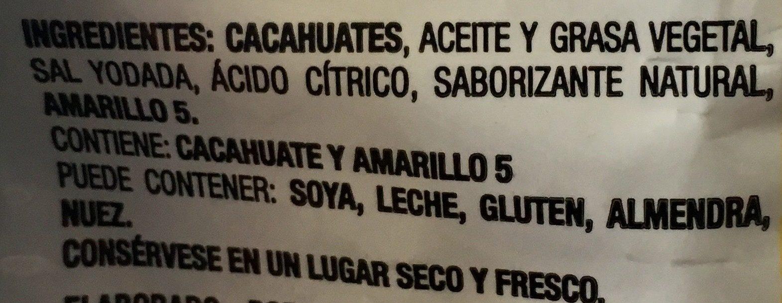 Golden Nuts Salados - Ingrediënten - es