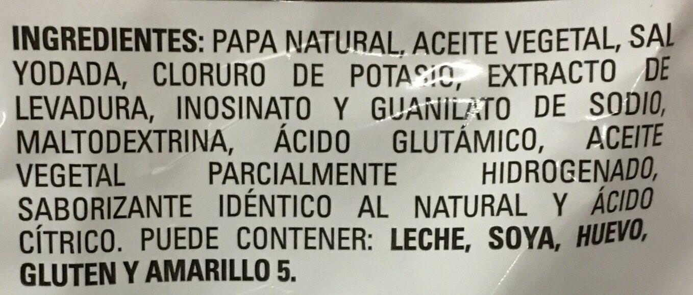 Chips - Ingredientes - es