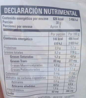 Chips - Información nutricional - es