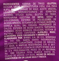 ROLES BIMBO - Ingrediënten - es