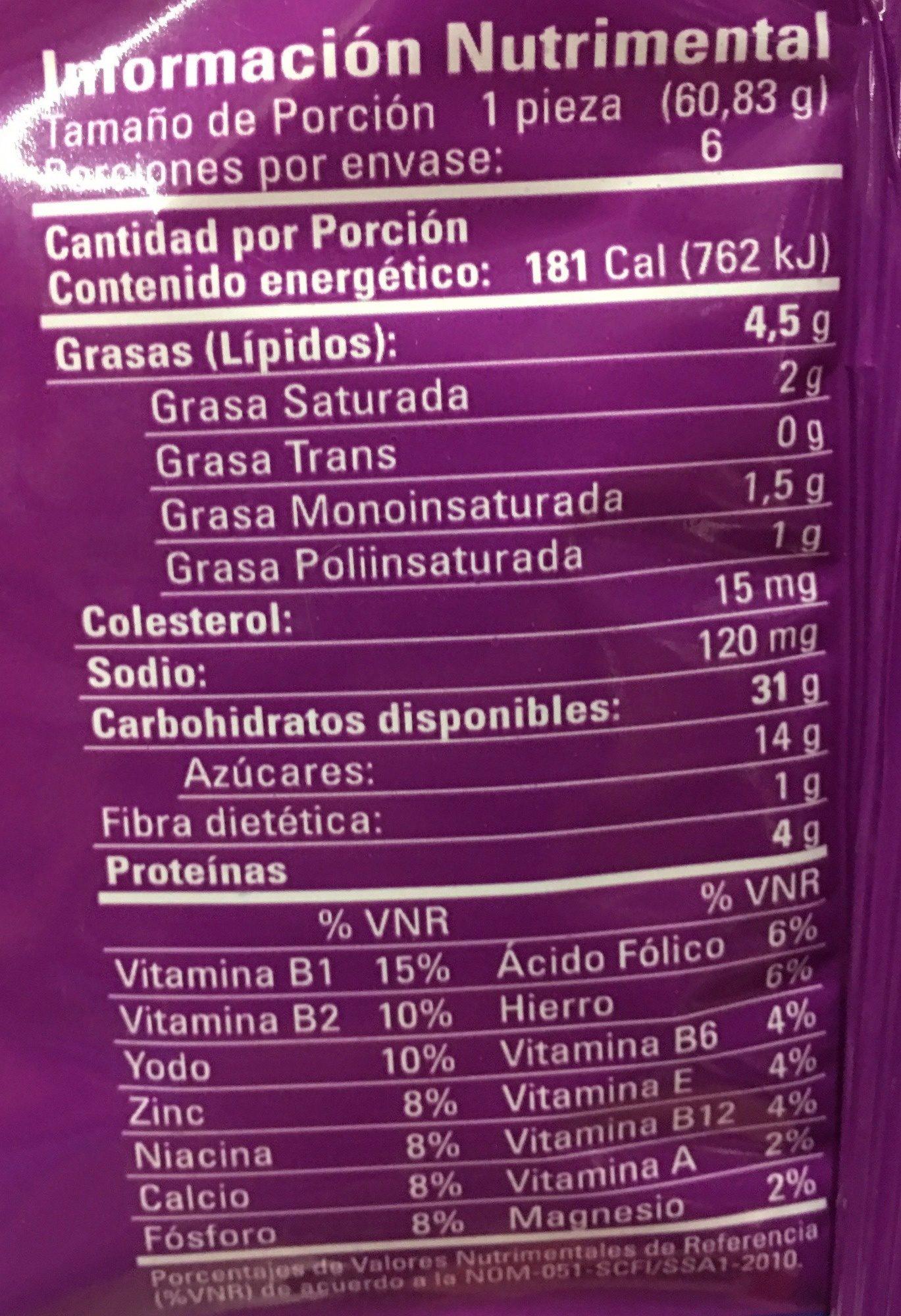 ROLES BIMBO - Voedingswaarden - es