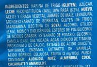ROLES de Canela Glaseados - Ingredients