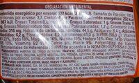 Pan integral - Información nutricional - es
