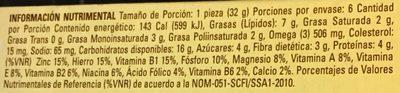 Multigrano linaza - Información nutricional - es