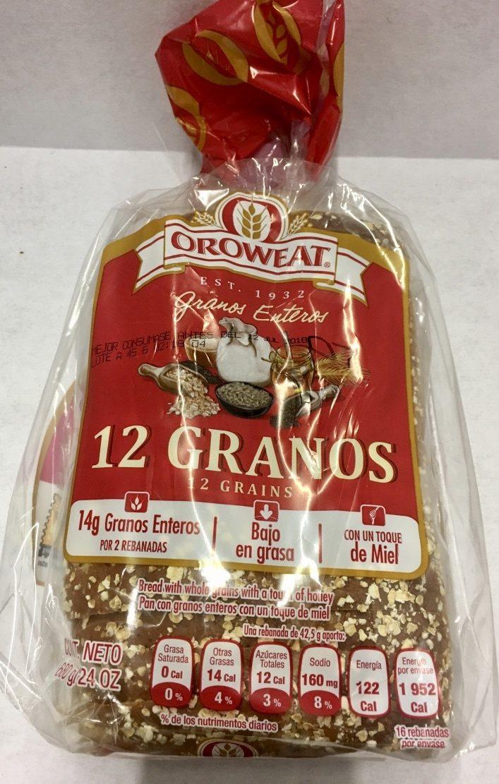 Oroweat 12 Granos - Producto - es