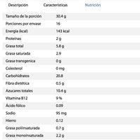 Emperador sabor vainilla - Informations nutritionnelles