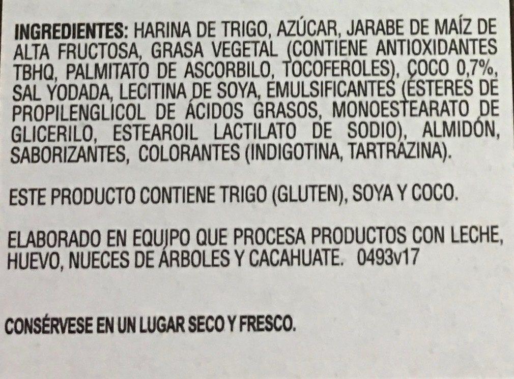 Barras de coco - Ingrediënten - es