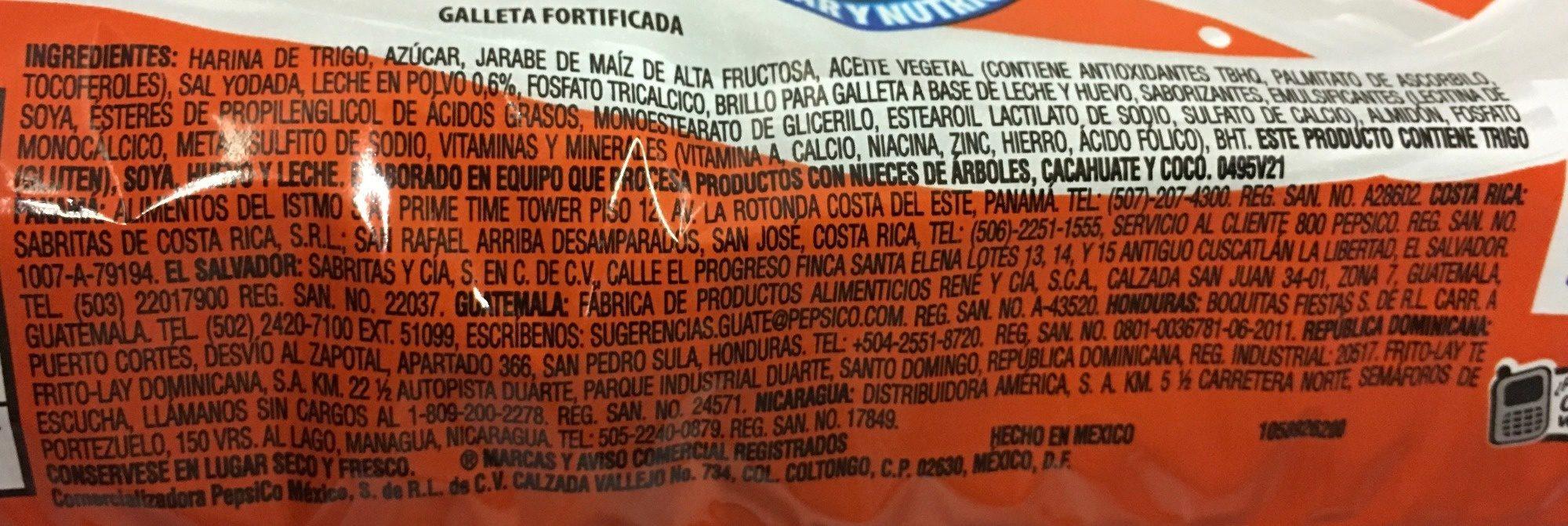 Marías - Ingredients - es