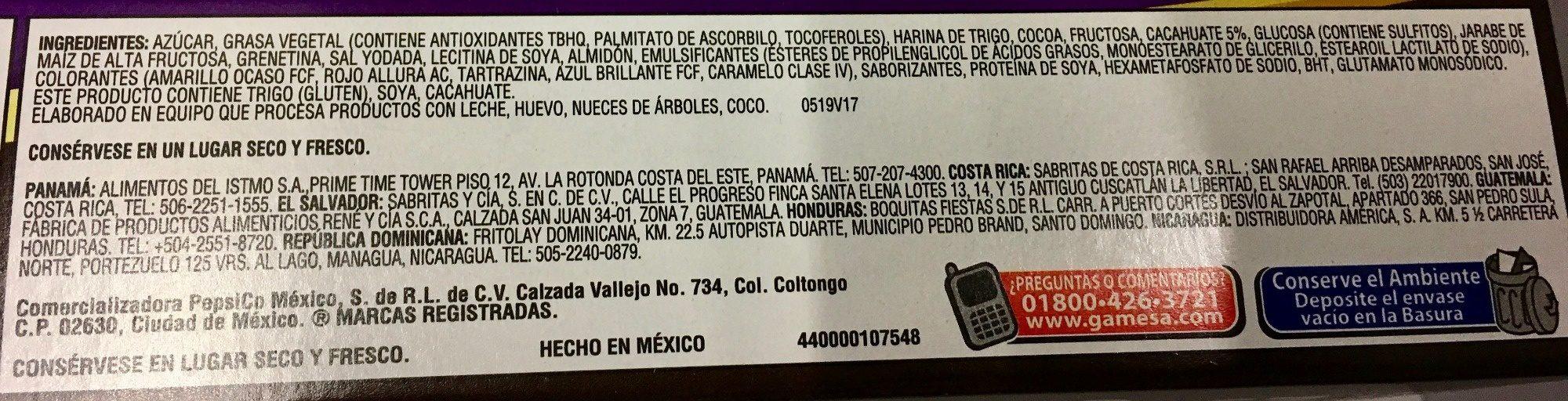 Chocolatines - Ingrediënten - es
