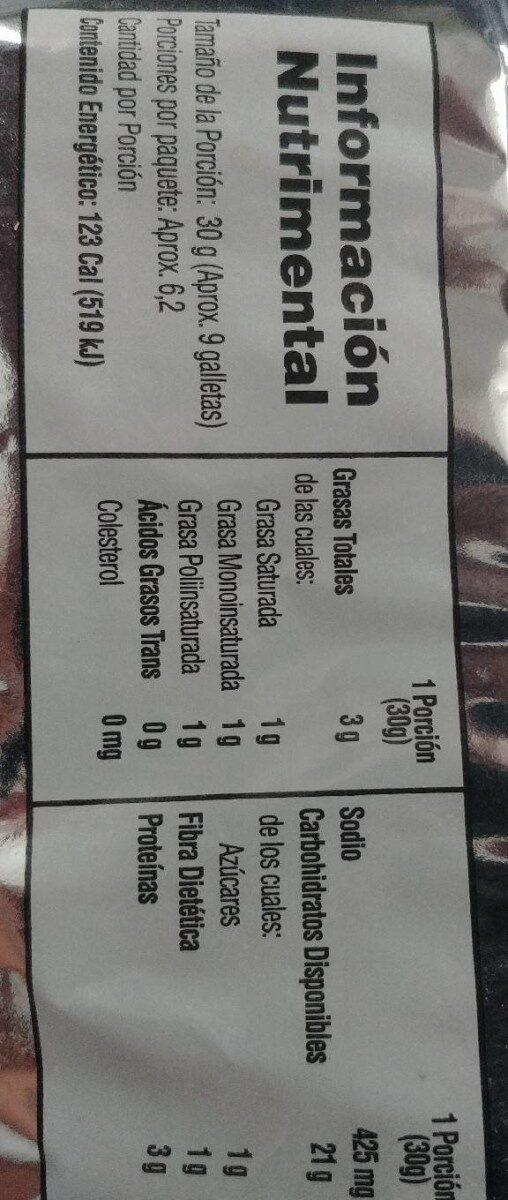Saladitas - Informations nutritionnelles - es
