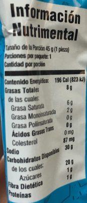 Mamut Flipy Gamesa - Nutrition facts - es