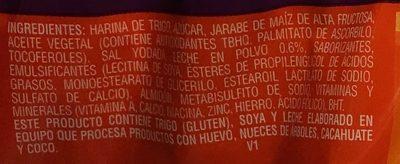 Mini Marías - Ingredients - es