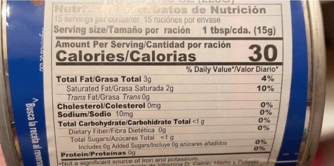Media crema - Información nutricional - es
