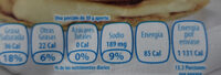 - Nutrition facts - es