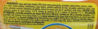 Cheez Whiz - Información nutricional - es