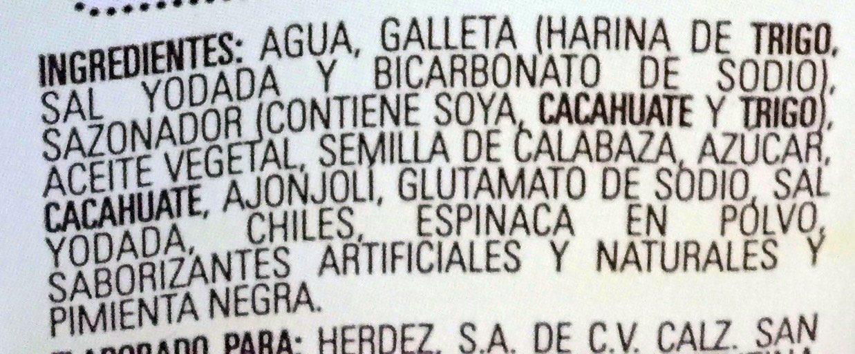 Mole Doña María - Ingrediënten - es