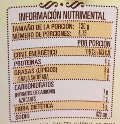 Mole Doña María - Voedingswaarden - es