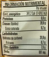 Palomitas Cinepolis - Informations nutritionnelles - es