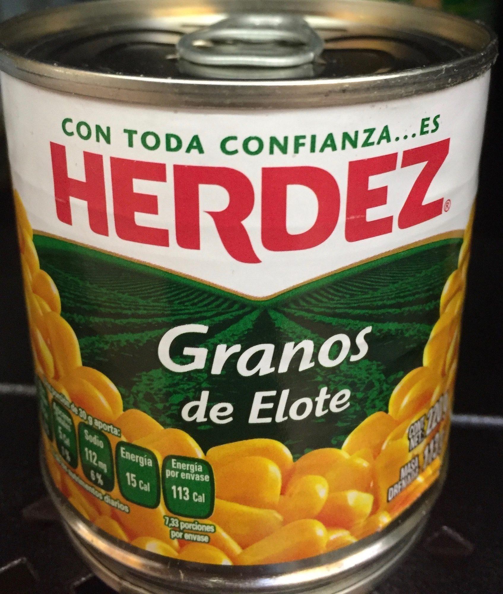 Granos de elote Herdez - Product