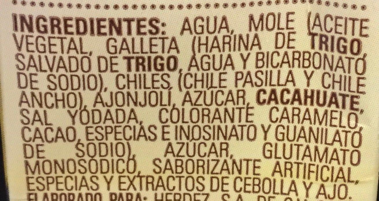 Mole Doña Maria - Ingrédients