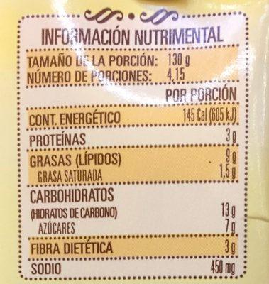 Doña María Mole - Voedingswaarden - es
