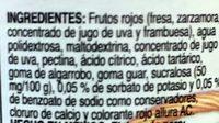 Mc Cormick Mermelada Frutos rojos - Ingrédients - es