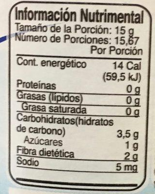 Mc Cormick Mermelada Frutos rojos - Informations nutritionnelles - es
