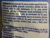 Caldo de pollo granulado - Ingrediënten - es